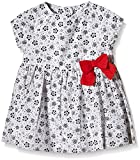 Petit Bateau Short Sleeve Floral Print Dress With Bow, Multi-Colored, 3M