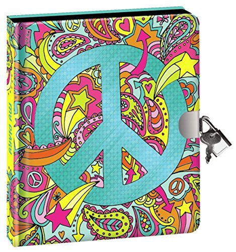 Paperboard Cover Journal - Peaceable Kingdom Paisley Peace Sign Foil Cover 6.25