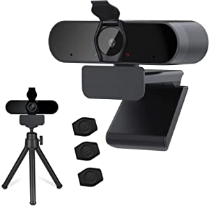 1080P Webcam with Microphone - HD Streaming USB Computer Webcam with Privacy Cover & Tripod,Plug and Play,Noise Reduction,Laptop Desktop Video Webcam for Recording, Calling, Conferencing, Gaming.