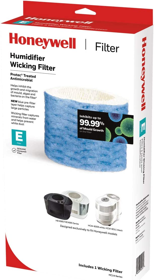 Honeywell Replacement Wicking Filter E, 1 Pack, White