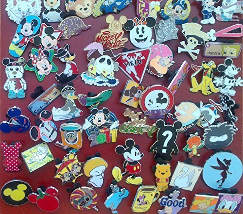 Disney Trading Pin Lot of 25 Lapel Collector Pins - No Doubles by Disney ()