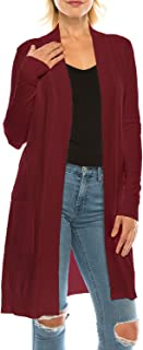 product image for Jubilee Couture Women's Long Sleeve Solid Open Front Knitted Cardigan Sweater
