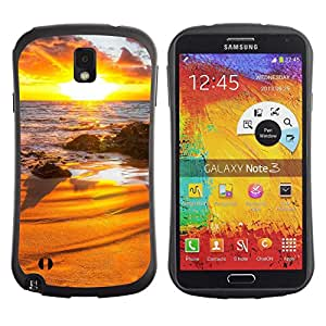 Pulsar iFace Series Tpu silicona Carcasa Funda Case para SAMSUNG Galaxy Note 3 III / N9000 / N9005 , Sunset Beautiful Nature 31