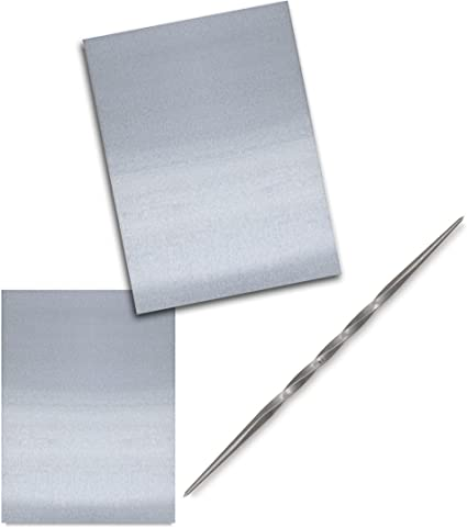3 x 4 Aluminum Etching Plate Toolkit 2 Metal Plates for Engraving /& Drypoint Techniques