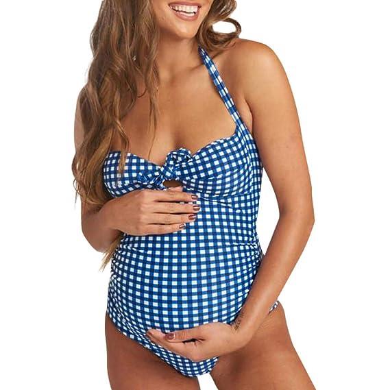 cd42542c330e ZARLLE-Traje de baño de Las Mujeres más el tamaño Maternidad Premamá ...