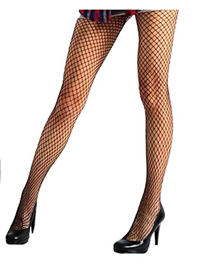 5427e4bbafc69 Green Pink Gold Silver Red colors w/Holes Fishnet Tights Stockings XS ~ M  at Amazon Women's Clothing store: