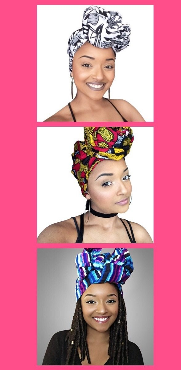 The Queen Lady African Headwrap Collection ( 3 headwraps) by Glamorous Chicks Cosmetics (Image #1)