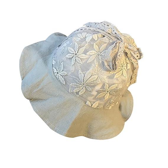 QinMM Sombrero de Sol de Encaje Para Niña Bebé 5c37c963536
