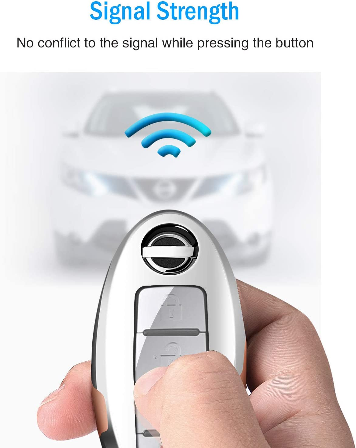 Infiniti 3 4 5-Button COMPONALL for Nissan Key Fob Cover Premium Soft TPU Full Cover Protection Smart Remote Keyless Key Fob Case,Rose Gold for Nissan Altima Maxima Rogue Armada Pathfinder
