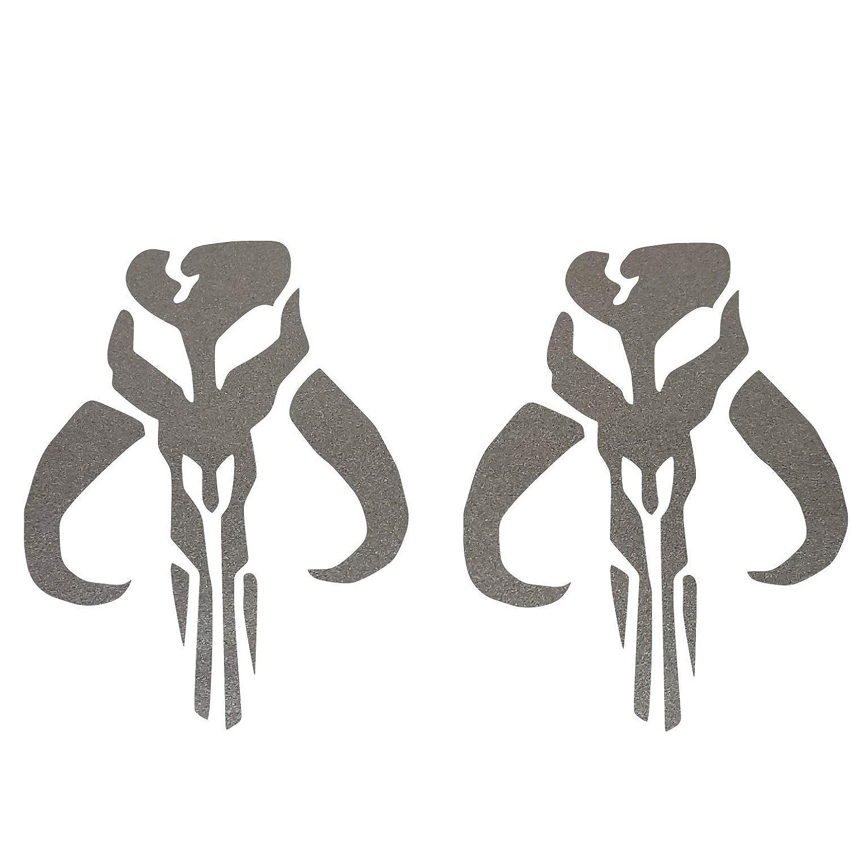 Bounty Hunter Mythosaur Skull SET in Beskar vinyl decal sticker mandalorian