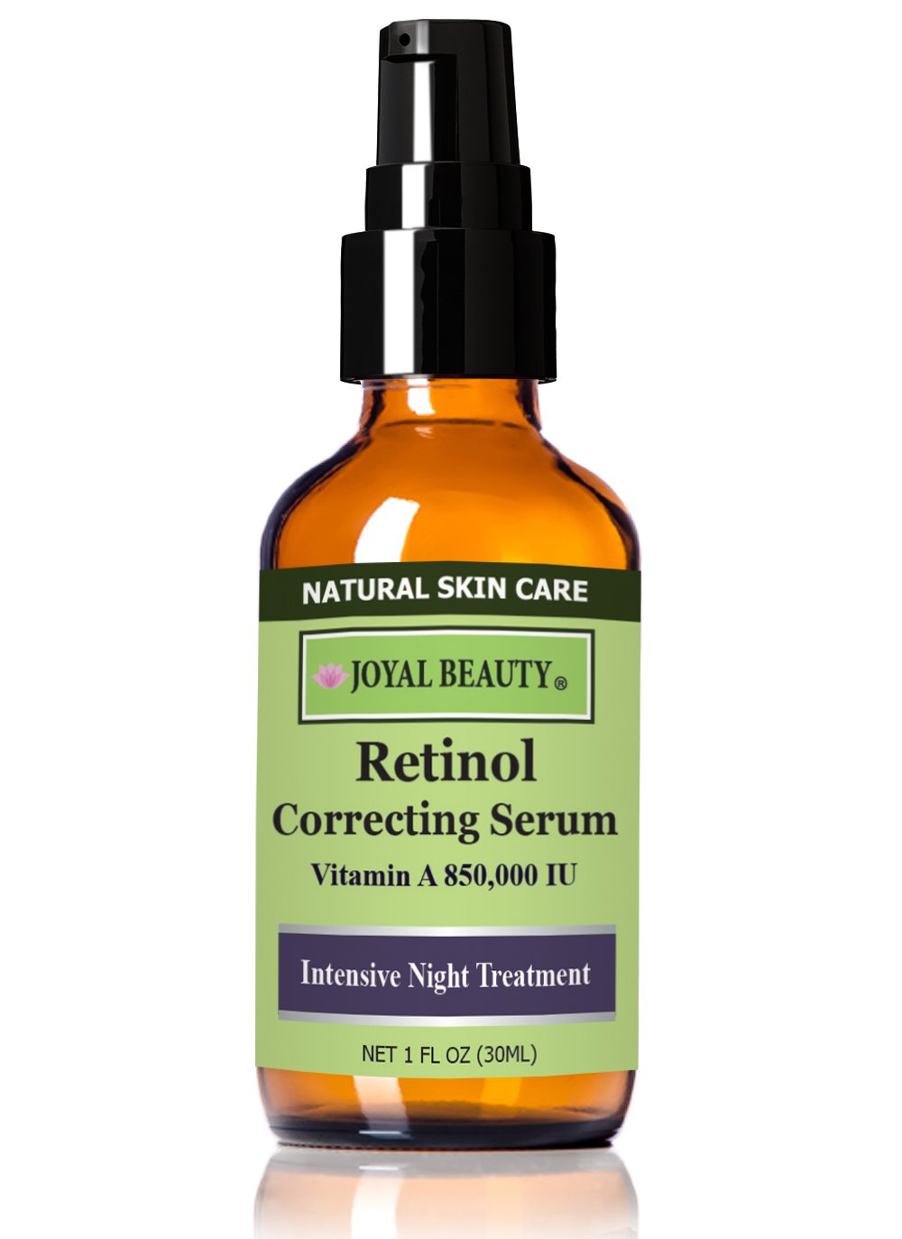 Joyal Beauty Organic Retinol Serum for Face Skin Eyes. Best for Anti-Aging Firming Fine Lines Wrinkles Acne Pores. Advanced Night Serum for Men and Women. Effective as Retin-a and Gentle. 1.0%. 1 oz.