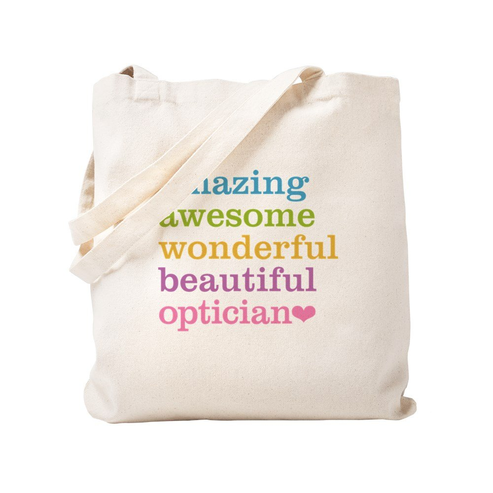 CafePress - Amazing Optician - Natural Canvas Tote Bag, Cloth Shopping Bag