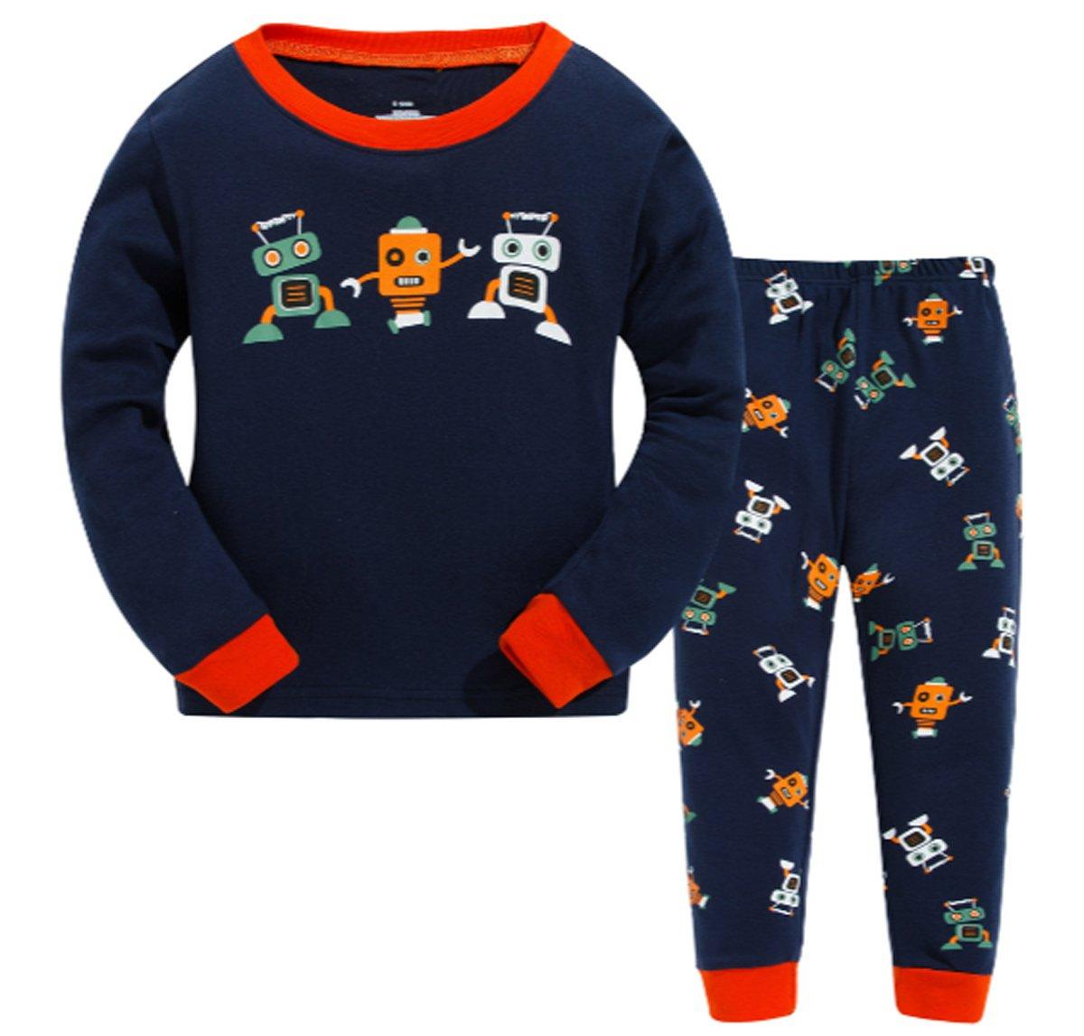 LOVE ROSE Robot Little Boys Girls' Pajamas Sets 100% Cotton Clothes Toddler Kid Sleepwear by LOVE ROSE (Image #1)