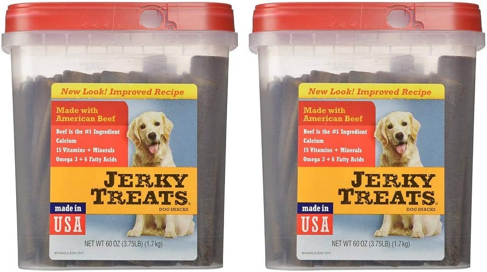 Jerky Treats Tender Beef Strips Dog Snacks 2 x 60 ounce