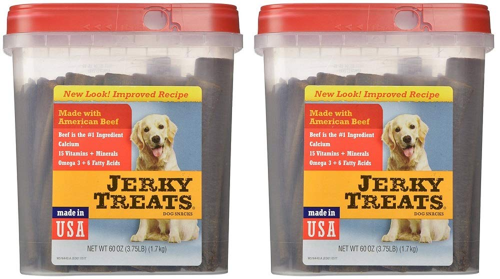 Jerky Treats Tender Beef Strips Dog Snacks (2 x 60 ounce) by Jerky Treats