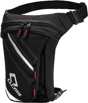 Bolso de La Pierna, FansportBolso de la Cadera Bolsa de Lona de la Cintura Muslo Pack para IR de Excursión Escalada Motocicleta Ciclismo (Schwarz Gestreift): Amazon.es: Deportes y aire libre