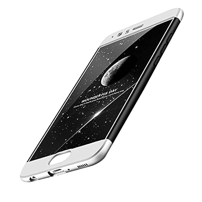 Qissy Carcasa Huawei P10plus, 3 in1 Todo Incluido Anti-Scratch Anti-Huella Dactilar a Prueba de Choque PC Protective Case Cover Skin para Huawei P10 ...