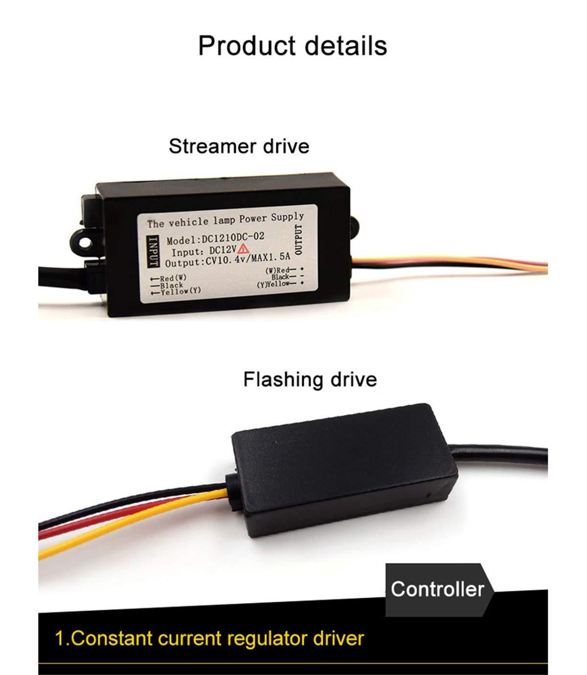 Luz de conducci/ón diurna Luz flexible de alta potencia Chip delgado DRL L/ágrimas de cristal Luces diurnas para veh/ículo Universal