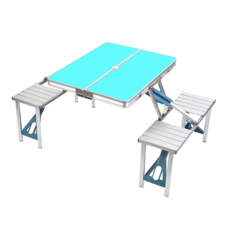 ZIHENGUO Mesa y sillas Plegables para Picnic, mesas ...