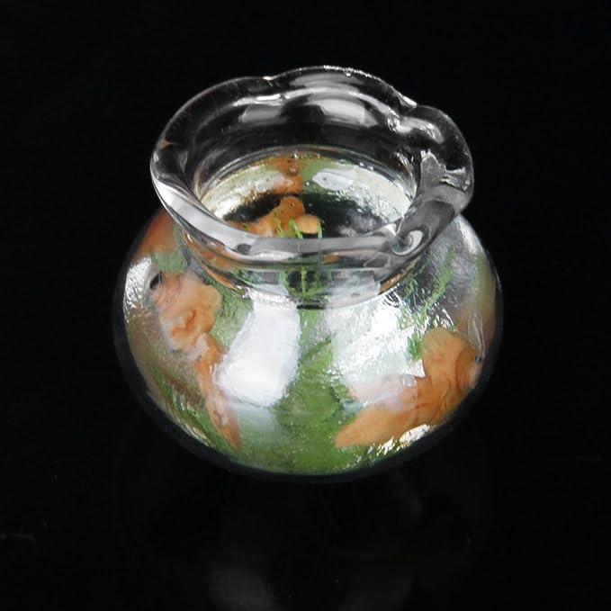 Amazon.es: 1:12 casa de muñecas miniatura oro pecera peces dorados tanque muñeca casa mascotas: Juguetes y juegos