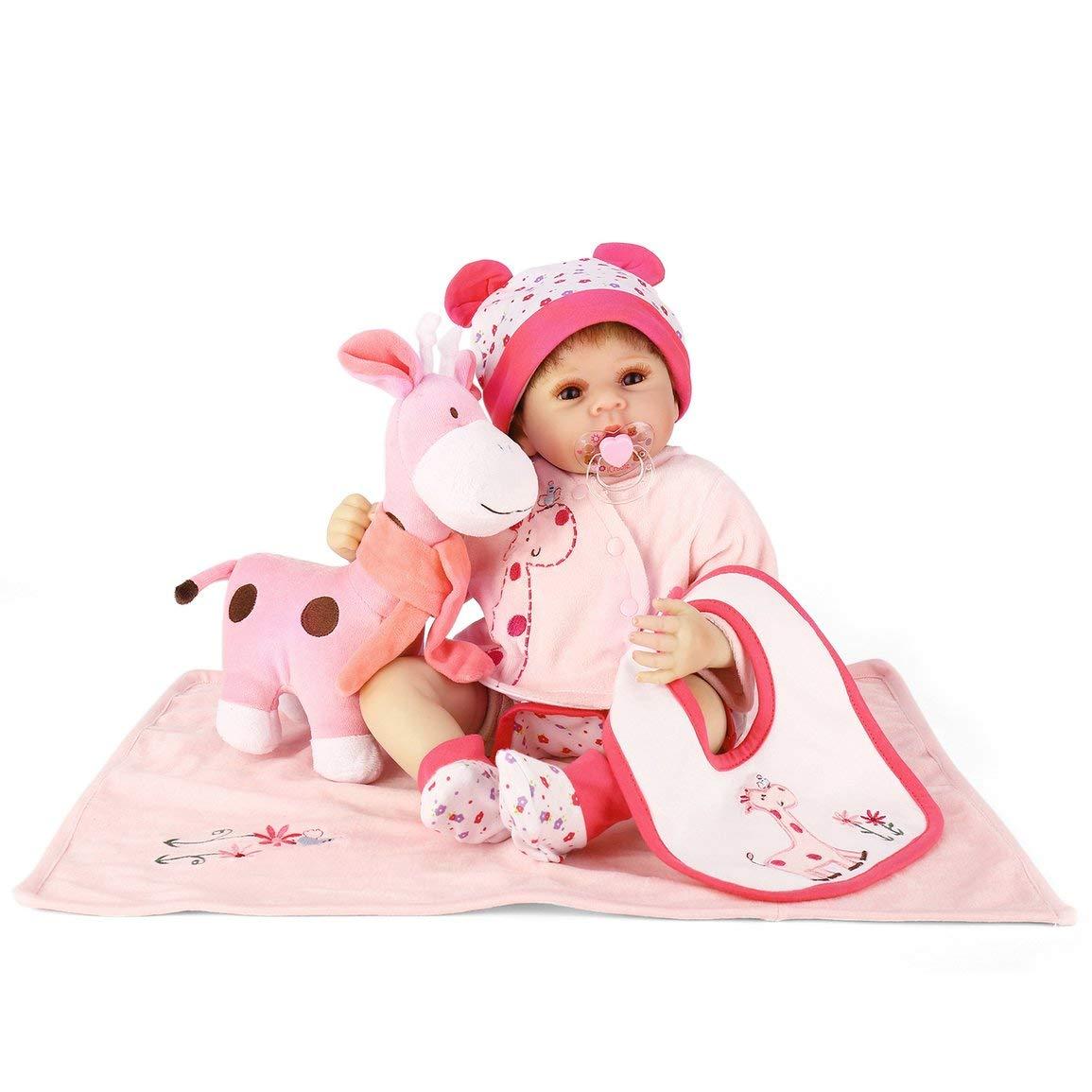 Fantasyworld NPK NPK NPK Simulation Säuglingsbaby 50cm Silikon-Puppe Nette Naturgetreue Neugeborene Puppe Parenting Spielzeug Kreative Geschenk für Kinder Playmate f483f5
