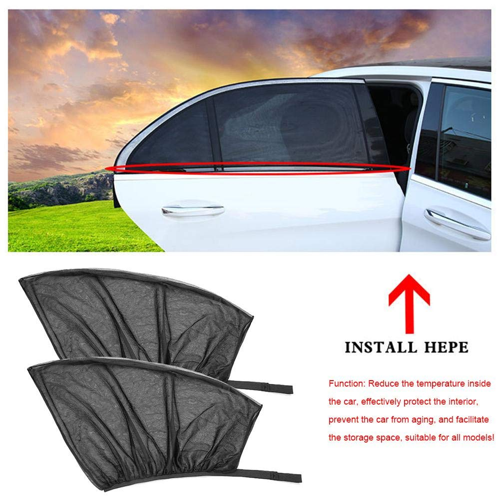 Car Curtain Universal Summer Sunshade Side Window Mesh Breathable Sun Block Sunscreen Heat for You Baby and Family Against Suns Glare