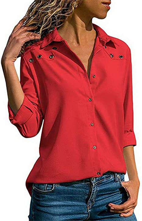 Blusa para Mujer de Primavera, otoño, Oficina, Blusas y ...