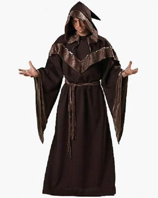 FUPOA Disfraces de Halloween Disfraz de Mago gótico para Hombre ...