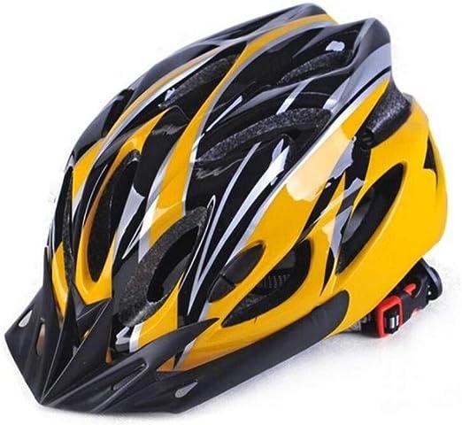 LWLJCFFF Casco de Bicicleta Montaña Off-Road Light Transpirable Unisex Protector de Cabeza Ajustable Casco de Bicicleta Ciclismo Cascos Profesionales, Amarillo, Francia: Amazon.es: Hogar