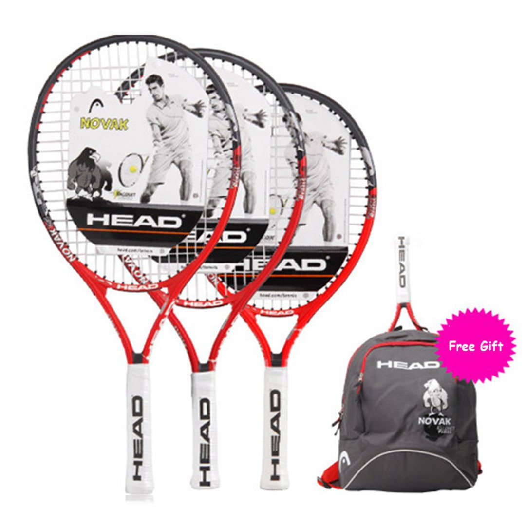 Amazon.com : Children Tennis Racket Paddle with Bagpack Tenis Raquete Sports Training Overgrip Damper String Boy Girl Kids Black-23inch : Sports & Outdoors