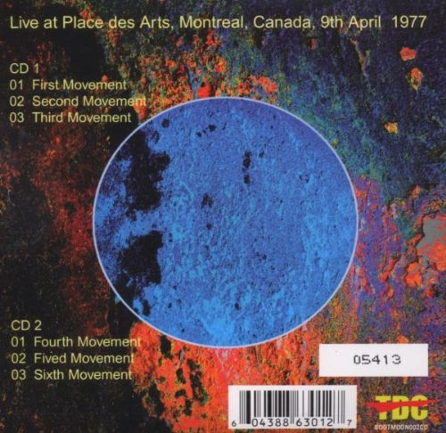 Tangerine Dream Live: Montreal- April 9th 1977- Live at Place des Arts, Montreal, Canada, 9th April 1977 by Bootmoon