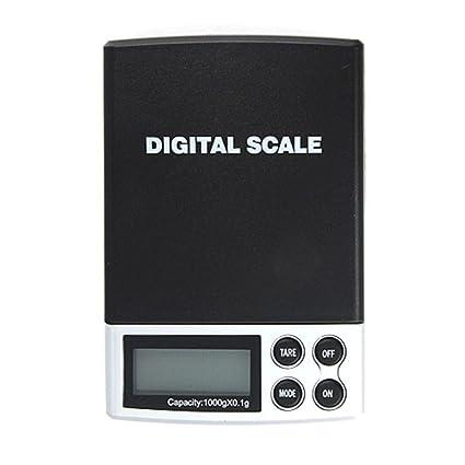 saflyse 0,1 g/1000g electrónica digital – Báscula de cocina industrial funda –