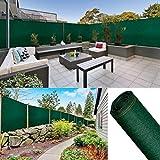 ProBache - Brise vue renforcé 1 x 5 m vert 220 gr/m² luxe pro
