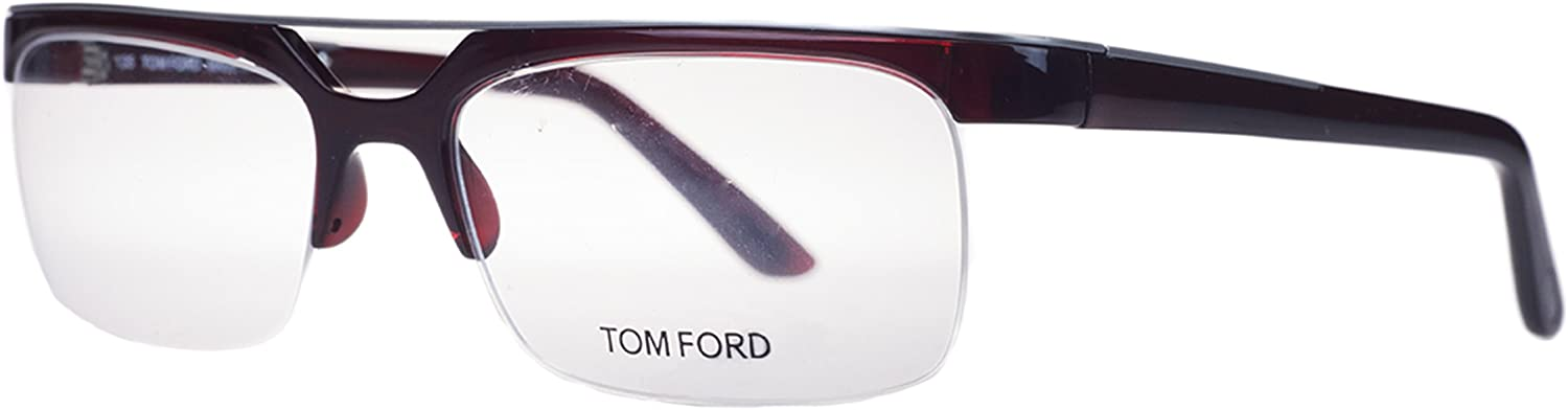 Tom Ford FT 5069V 211 Dark Red Rectangular Optical Frames