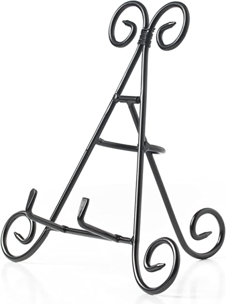 """Sturdy 9/"""" Iron Display Stand Holder For Home Kitchen Books Pictures Platters"""