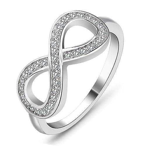 Yxyp Impression 1 Pcs Ringe Ring 8 Symbole Ring Mode Diamant Ring