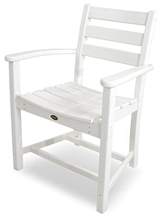 Trex Outdoor Furniture Monterey Bay Dining Classic White Arm Chair