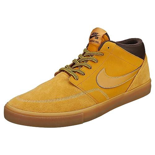 267dc7f20c Nike Adults Sb Portmore Ii SLR M Bota Skateboarding Shoes Multicolour Bronze /Gum Light Brown