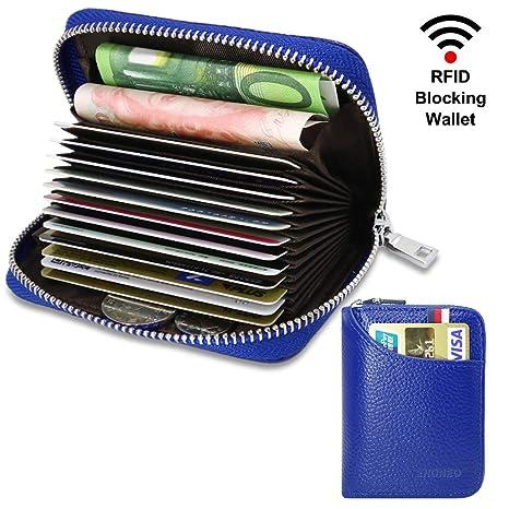 Tarjetero para Tarjetas de Crédito para Hombre Mujer RFID Titular de la Tarjeta de Crédito de