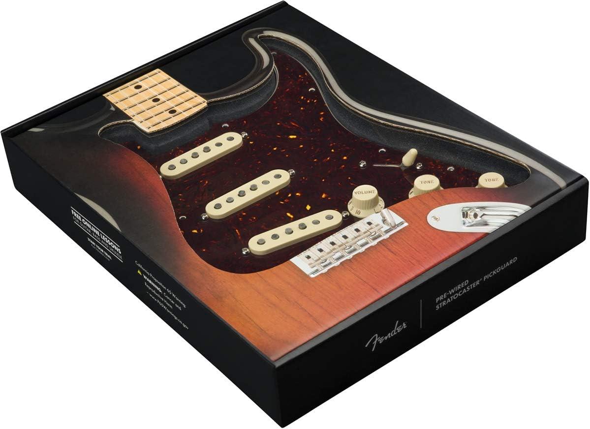 Fender Pre-wired Pickguard Strat Custom Shop FAT 50s Tortoise Shell,Shell,0992340500 S//S//S