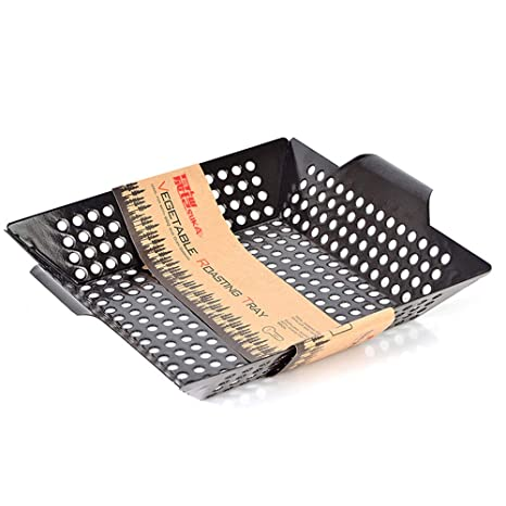 E&N LIFE Grill Basket-Large Grating Basket-Non-Stick BBQ ...