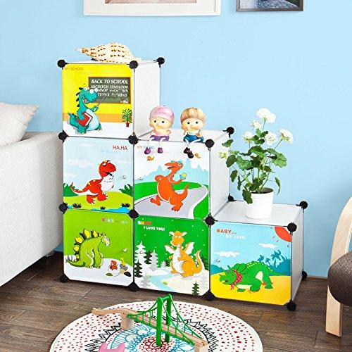Sobuy DIY Regal,Kinderregal, Kinderschrank, Kleiderschrank, Steckregalsystem, FSS11