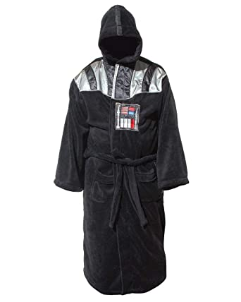Amazon.com  Star Wars Darth Vader Uniform Fleece Bathrobe Black ... 56a8ae1d7