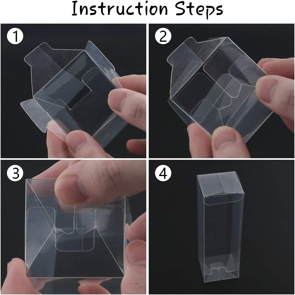 26 PCS Clear Gitf Boxes Plastic Favor Boxes Transparent Cube Boxes PET Boxes for Wedding,Party,Baby Shower,Bridal Shower 2x2x6inch
