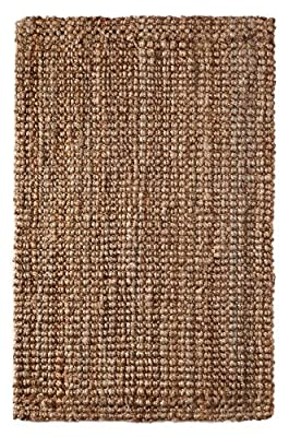 Iron Gate Handspun Jute Area Rug Hand woven by Skilled Artisans, 100% Natural eco-friendly Jute yarns, Textural thick ribbed construction, Reversible for double the wear, Rug pad recommended