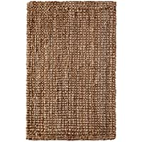 Iron Gate Handspun Jute Area Rug 2x3 Hand woven by Skilled Artisans, 100% Natural eco-friendly Jute yarns, Thick ribbed construction, Reversible for double the wear, Rug pad recommended