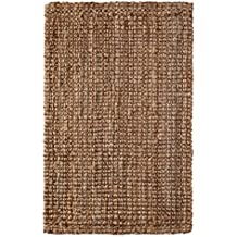 Iron Gate Handspun Jute Area Rug 7.6x9.6 Hand woven by Skilled Artisans, 100% Natural eco-friendly Jute yarns, Thick ribbed construction, Reversible for double the wear, Rug pad recommended