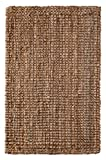 Cheap Iron Gate Handspun Jute Area Rug 5×8 Hand woven by Skilled Artisans, 100% Natural eco-friendly Jute yarns, Thick ribbed construction, Reversible for double the wear, Rug pad recommended