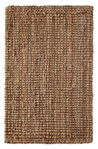 Iron Gate Handspun Jute Area Rug 5x8 Hand woven by Skilled Artisans, 100% Natural eco-friendly Jute yarns, Thick ribbed construction, Reversible for double the wear, Rug pad recommended (5x8 Outdoor Rug)