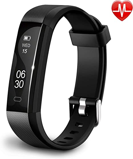 Qualis Fitness Activity Tracker, Heart Rate Monitor Watch